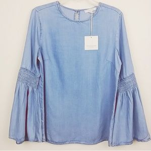 Beach Lunch Lounge | Elastic elbow bell sleeve top